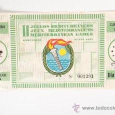 Coleccionismo deportivo: ENTRADA DE FÚTBOL DE LOS JUEGOS MEDITERRANEOS DE BARCELONA - ESTADIO C.F. BARCELONA, AÑO 1955. Lote 26727109