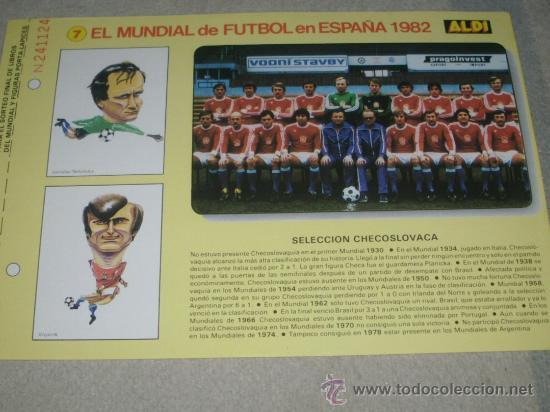 -EL MUNDIAL DE FUTBOL DE ESPAÑA 82 : 7 SELECCION CHECOSLOVACA CHECOSLOVAQUIA (Coleccionismo Deportivo - Documentos de Deportes - Otros)