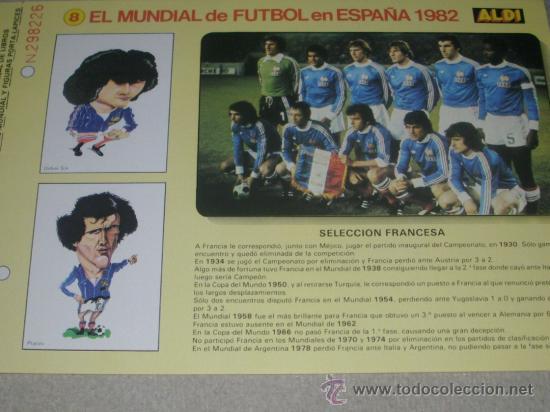 -EL MUNDIAL DE FUTBOL DE ESPAÑA 82 : 8 SELECCION FRANCESA FRANCIA (Coleccionismo Deportivo - Documentos de Deportes - Otros)