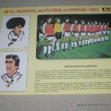 Coleccionismo deportivo: -EL MUNDIAL DE FUTBOL DE ESPAÑA 82 : 14 SELECCION DE AUSTRIA. Lote 26729937