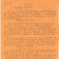 Coleccionismo deportivo: FUTBOL. HISTORIA DEL FÚTBOL ESPAÑOL ESCRITO A MÁQUINA DESDE EL AÑO 1931 AL 1960.EXCLUSIVO. UNICO.. Lote 26876663