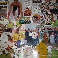 Coleccionismo deportivo: LOTE RECORTES DE ROBERTO CARLOS (REAL MADRID - SELECCIÓN BRASIL ...). Lote 27266972