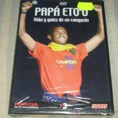 Coleccionismo deportivo: DVD DEL BARCELONA : PAPA ETOO , VIDA Y GOLES DE UN CAMPEON -- PRECINTADO --. Lote 27449619