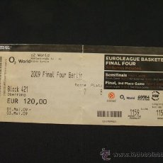 Coleccionismo deportivo: ENTRADA - FINAL FOUR EUROLEAGUE BALONCESTO - BERLIN 2009 - ALL GAMES INCLUDED -. Lote 27881733