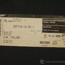 Coleccionismo deportivo: ENTRADA - FINAL FOUR EUROLEAGUE BALONCESTO - BERLIN 2009 - ALL GAMES INCLUDED -. Lote 27881746
