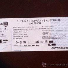 Coleccionismo deportivo: ESPANA V AUSTRALIA ENTRADA TICKET BALONCESTO BASKET VALENCIA 26TH AGOSTO 2011. Lote 28327856