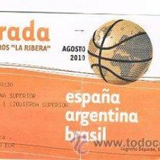 Coleccionismo deportivo: ENTRADA DE BALONCESTO ARGENTINA VS BRASIL. Lote 29141764