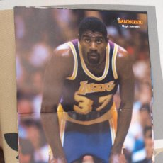 Coleccionismo deportivo: POSTER BALONCESTO NBA MAGIC JOHNSON LOS ANGELES LAKERS. Lote 29209289