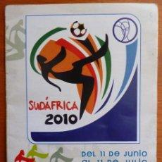Coleccionismo deportivo: CALEDARIO DE PARTIDOS SUDAFRICA 2010.. Lote 30097438