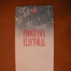 Coleccionismo deportivo: TRIPTICO PROGRAMA ELECTORAL ELECCIONES FC. BARCELONA. CANDIDATO JOSE LUIS NUÑEZ. Lote 30230333