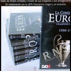 Coleccionismo deportivo: LOTE DVDS LA CONQUISTA DE EUROPA FÚTBOL HISTORIA LIGA CAMPEONES REAL MADRID FC BARCELONA DEPORTE DVD. Lote 33577086