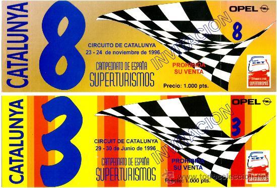 CIRCUITO DE CATALUNYA – ENTRADAS (Coleccionismo Deportivo - Documentos de Deportes - Otros)