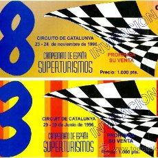 Coleccionismo deportivo: CIRCUITO DE CATALUNYA – ENTRADAS. Lote 36294473