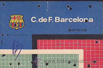 CARNET ANUAL C.F.BARCELOANA 1961 (Coleccionismo Deportivo - Documentos de Deportes - Otros)