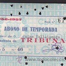 Coleccionismo deportivo: CARNET ABONO TEMPORADA 1956-1957. Lote 31160250