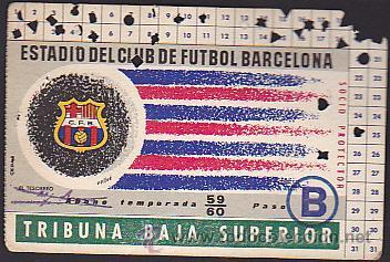 CARNET ABONO TEMPORADA 1959-1960 (Coleccionismo Deportivo - Documentos de Deportes - Otros)