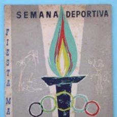 Collezionismo sportivo: FIESTA MAYOR SALOU. SEMANA DEPORTIVA. DEL 2 AL 9 DE SEPTIEMBRE, 1962. TARRAGONA.. Lote 31278443
