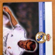 Coleccionismo deportivo: REAL MADRID-MÁLAGA, 8 DE SEPTIEMBRE DE 2001 - PROGRAMA DE LA LIGA 2001-2002. Lote 31494781