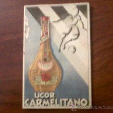 Coleccionismo deportivo: LIGA PRIMERA DIVISION 1943-1944-LICOR CARMELITANO. Lote 31824969