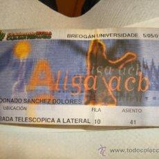 Coleccionismo deportivo: ENTRADA CD BALONCESTO, SEVILLA, BREOGAN UNIVERSIDADE 01 GRADA TELESCOPICA LATERAL . Lote 31958215