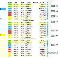 Coleccionismo deportivo: CALENDARIO DE BOLSILLO TRIPTICO DE CARTON EUROCOPA POLONIA UCRANIA 2012. Lote 32246702