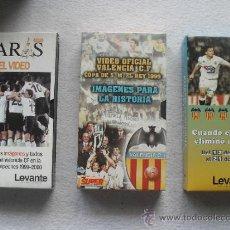 Coleccionismo deportivo: LOTE 3 VIDEOS VHS VALENCIA C.F. LIGA CAMPEONES 1999, COPA DEL REY 1999, VALENCIA ELIMINO MADRID. Lote 32337699