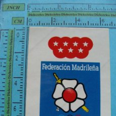 Coleccionismo deportivo: PEGATINA DE DEPORTES. FEDERACIÓN MADRILEÑA DE JUDO. JUDOKA, MADRID. . Lote 32535776