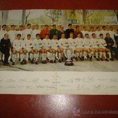 Coleccionismo deportivo: ANTIGUO DOCUMENTO DEL R. MADRID CAMPEÓN DE LIGA CON FOTOGRAFIA DEL EQUIPO DEL AÑO 1961.. Lote 32619913