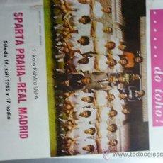 Coleccionismo deportivo: PROGRAMA FUTBOL PARTIDO SPARTA PRAHA-REAL MADRID. Lote 32802307