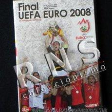 Coleccionismo deportivo: DVD FINAL EUROCOPA 2008 ESPAÑA ALEMANIA FÚTBOL PARTIDO HISTÓRICO DEPORTE EURO COPA UEFA HISTORIA. Lote 227672490