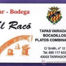 Coleccionismo deportivo: CALENDARIO PARTIDOS FUTBOL - BAR EL RACO - NASTIC / GIMNASTICO TARRAGONA - TGN - 2010 / 11 . Lote 33265284