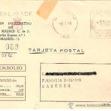 Coleccionismo deportivo: TARJETA POSTAL DE INSCRIPCIÓN AL BOLETÍN INFORMATIVO DEL REAL MADRID. 1976.. Lote 33270321