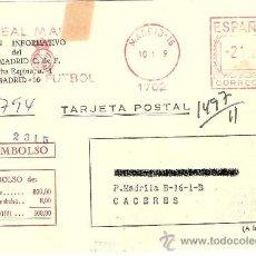 Coleccionismo deportivo: TARJETA POSTAL DE INSCRIPCIÓN AL BOLETÍN INFORMATIVO DEL REAL MADRID. 1979.. Lote 33270469