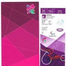 Coleccionismo deportivo: ENTRADA JUEGOS PARALIMPICOS LONDRES 2012. Lote 33392247