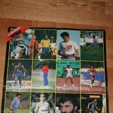 Coleccionismo deportivo: POSTER CALENDARIO DON BALON LOS MEJORES DEPORTISTAS DEL AÑO 1986. Lote 33766624