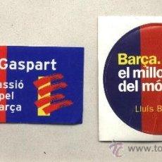 Coleccionismo deportivo: ADHESIVOS BARÇA. JOAN GASPART. LLUÍS BASSAT. CAMPAÑA ELECTORAL 2000. FUTBOL CLUB BARCELONA.. Lote 33982114