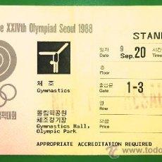 Coleccionismo deportivo: ENTRADA JUEGOS OLIMPICOS DE SEUL 1988 GIMNASIA OLIMPIADA. Lote 33992224
