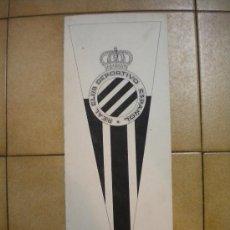 Coleccionismo deportivo: DIBUJO DEL REAL CLUB DEPORTIVO ESPAÑOL 1950'S PINTADO A MANO.. Lote 34110226