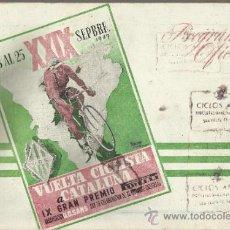 Coleccionismo deportivo: VUELTA CICLISTA A CATALUÑA 1949. Lote 34122572