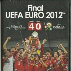 Coleccionismo deportivo: EUROCOPA 2012. CAMPEONA SELECCIÓN ESPAÑOLA DE FÚTBOL. COLECCIÓN COMPLETA DE TRES DVDS.. Lote 34149110