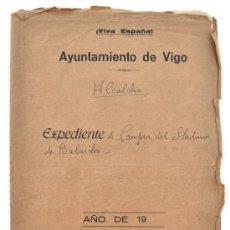 Coleccionismo deportivo: EXPEDIENTE DE COMPRA DEL STADIUM DE BALAIDOS. DIRIGIDO AL AYUNTAMIENTO DE VIGO, 1941. CELTA DE VIGO. Lote 34150416