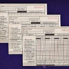 Coleccionismo deportivo: BOLETO DE QUINIELA - FUTBOL - JORNADA 21 - 20/1/74 - JUEGO DE 3 CON Nº CORRELATIVOS - AÑO 1974. Lote 34464408