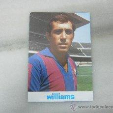Coleccionismo deportivo: POSTAL JUAN MANUEL ASENSI. JUGADOR FC BARCELONA. PATROCINADA POR WILLIAMS SPORT. 1973. Lote 34639577