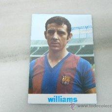 Coleccionismo deportivo: POSTAL ANTONIO DE LA CRUZ. JUGADOR FC BARCELONA. PATROCINADA POR WILLIAMS SPORT. 1973. Lote 34639611
