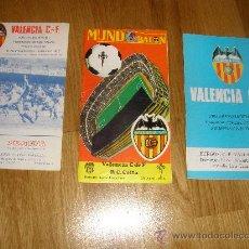 Coleccionismo deportivo: PROGRAMA ANTIGUO VALENCIA CF VS ALEMERIA VALLADOLID OSASUNA GETAFE. Lote 35043091