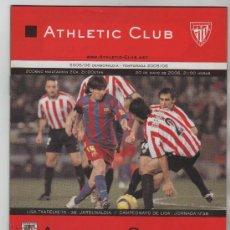 Coleccionismo deportivo: PROGRAMA DE PARTIDO ATHLETIC CLUB - FC BARCELONA TEMPORADA 2005/06 MESSI EN PORTADA. Lote 35417270
