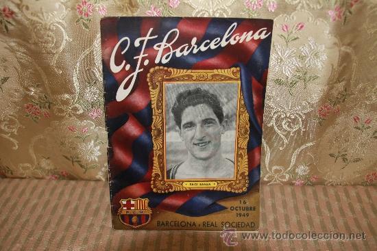 Coleccionismo deportivo: 2446- LOTE DE DOCUMENTOS DEL C.F. BARCELONA. 1949/1970. VER DESCRIPCION. - Foto 2 - 35665903