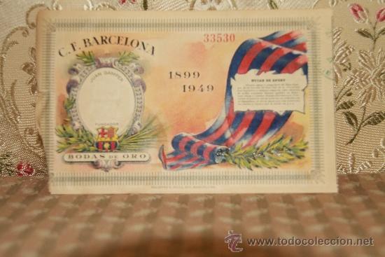 Coleccionismo deportivo: 2446- LOTE DE DOCUMENTOS DEL C.F. BARCELONA. 1949/1970. VER DESCRIPCION. - Foto 8 - 35665903