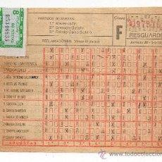 Coleccionismo deportivo: RESGUARDO DE QUINIELA. 5 DE MARZO DE 1978. JORNADA 26.. Lote 35675171