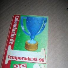 Coleccionismo deportivo: CAMPEONATO NACIONAL DE LIGA. CALENDARIO DEL FUTBOL ESPAÑOL 1995-96. 1ª Y 2ª DIVISIÓN. OBSEQUIO AS.. Lote 35722748
